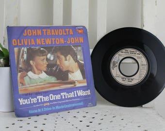 Vintage Record John Travolta And Olivia Newton-John - You're The One That I Want Original condition.