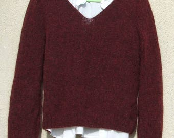 "women's alpaca sweater ""Burgundy"""