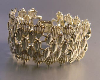 Very Large Art Deco Goldtone Bracelet