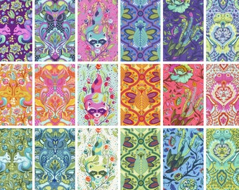 IN STOCK ~ All Stars Animals by Tula Pink for Free Spirit ~ Fat Quarter or Half Yard BUNDLE ~ Choose Palette or All Colors