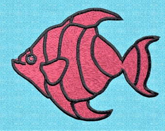 Coral Fish Machine Embroidery Pattern Digitalized and Ready to sew