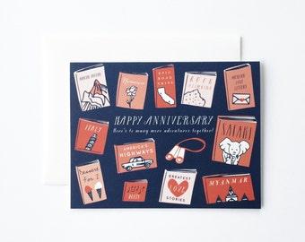 Anniversary Card, Anniversary Gift, Anniversary Book, Book Card, Literary Card