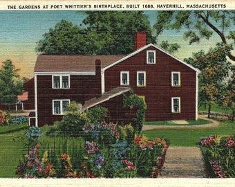 Haverhill, Massachusetts, Poet Whittier, Birthplace - Vintage Postcard - Postcard - Unused (H)