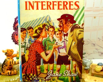 Susan Interferes by Jane Shaw Vintage Hardback book with DW Susan Stories The Childrens Press 1st Ed 1960s