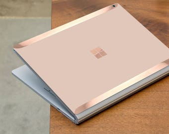 Toasted Wheat and Rose Gold Edge Vinyl Skin for Microsoft Surface Book , Surface Laptop , Surface Pro 2017  - Platinum Edition