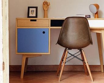 Scandinavian style oak desk.