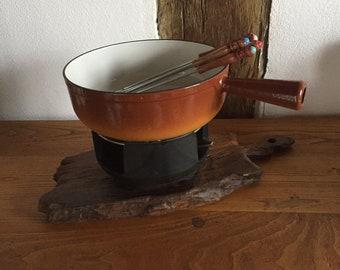 Vintage fondue Set NOMAR France, midcentury
