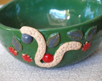 Ceramic Bowl in green