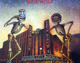 Grateful Dead 21x27 Radio City Music Hall Poster 1980 TEA LAUTREC
