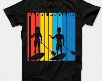 Retro 1970's Style Paddleboard Paddleboarding Kids T-Shirt