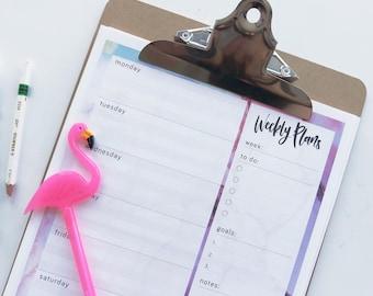 Open Weekly Planner - Digital Download - Printable Planner - Printable To Do List - Blank Weekly Planner
