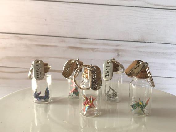 Keychain origami crane inspiration gifts key charm friend - photo#31