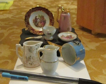 Vintage French Lamoges Miniature dishes Collection