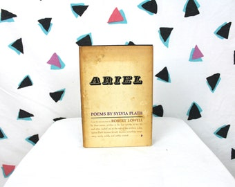 First Edition Ariel By Sylvia Plath. Rare 1966 First Edition First Printing Sylvia Plath Book. Ariel - Poems By Sylvia Plath Book Gift.