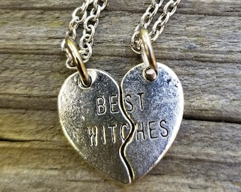 Feminist Gifts Witchy Gifts Best Witches BFF Necklaces