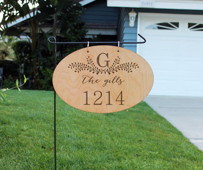 Personalized Wood Garden Flag Custom Family Yard Sign