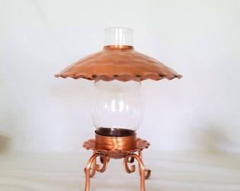 "Gregorian Lantern  Stands 10 ""  Chimney Candle Lamp"