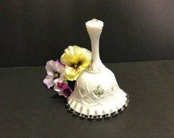 Fenton Bell Spanish Lace Silver Crest