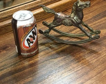 Antique Brass Collectible Rocking Horse