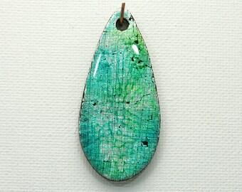 Teal Polymer Clay Tear Drop Summer Colors Alcohol Inks Caribbean Colors Cerulean Tropical Beachy Feel  Resin Finish Blue Green Metallic