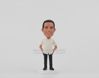 Custom Bobbleheads Sculpted From Your Pictures, Coworker Christmas, coworker Christmas gifts, Christmas Gift, Men's Christmas Gift ideas