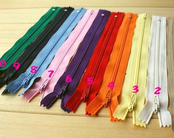 10 Color-7.87 inch/10 Pcs- zippers ykk zippers colorful zippers wholesale zippers home decor-STGC