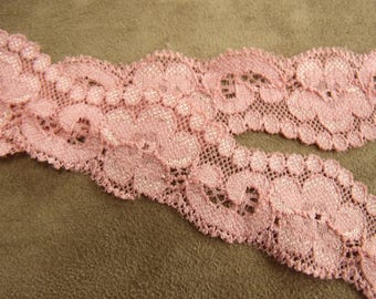 LACE in Ribbon-3, 5 cm - pink
