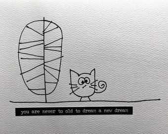 Travel Cat Notecard