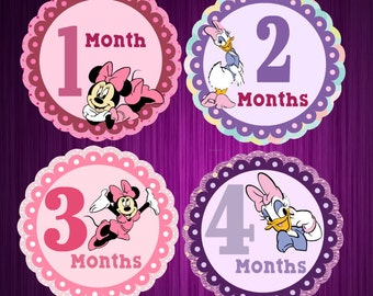 Minnie and Daisy- Monthly Milestone Baby Stickers