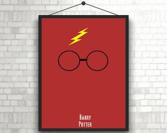 Harry Potter minimalist artwork poster