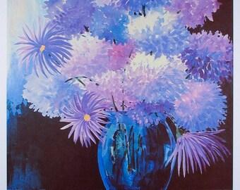 STILL LIFE FLOWERS, Prints, Purple Flowers, Floral, Home Decor, Wall Decor, Flowers Art, Wall Art Prints, Poster, Flowers, Still Life Art