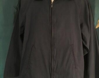 Arnold Palmer Mens Vintage Sports Jacket Navy Blue Size Large
