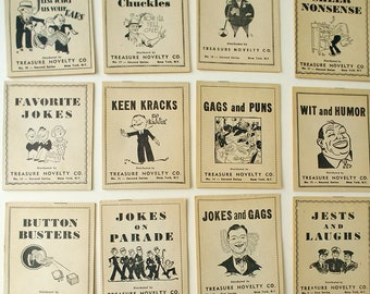 1944 Treasure Novelty Co. Joke Books, Vol. 1-20, Vintage Humor, Comics