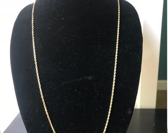 "30"" 14K Gold Rope Chain 19.3g"
