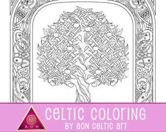 Tree of Creation - coloring page