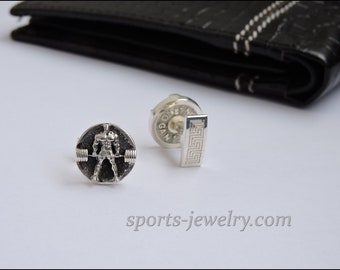 Deadlift cufflinks Sports cufflinks