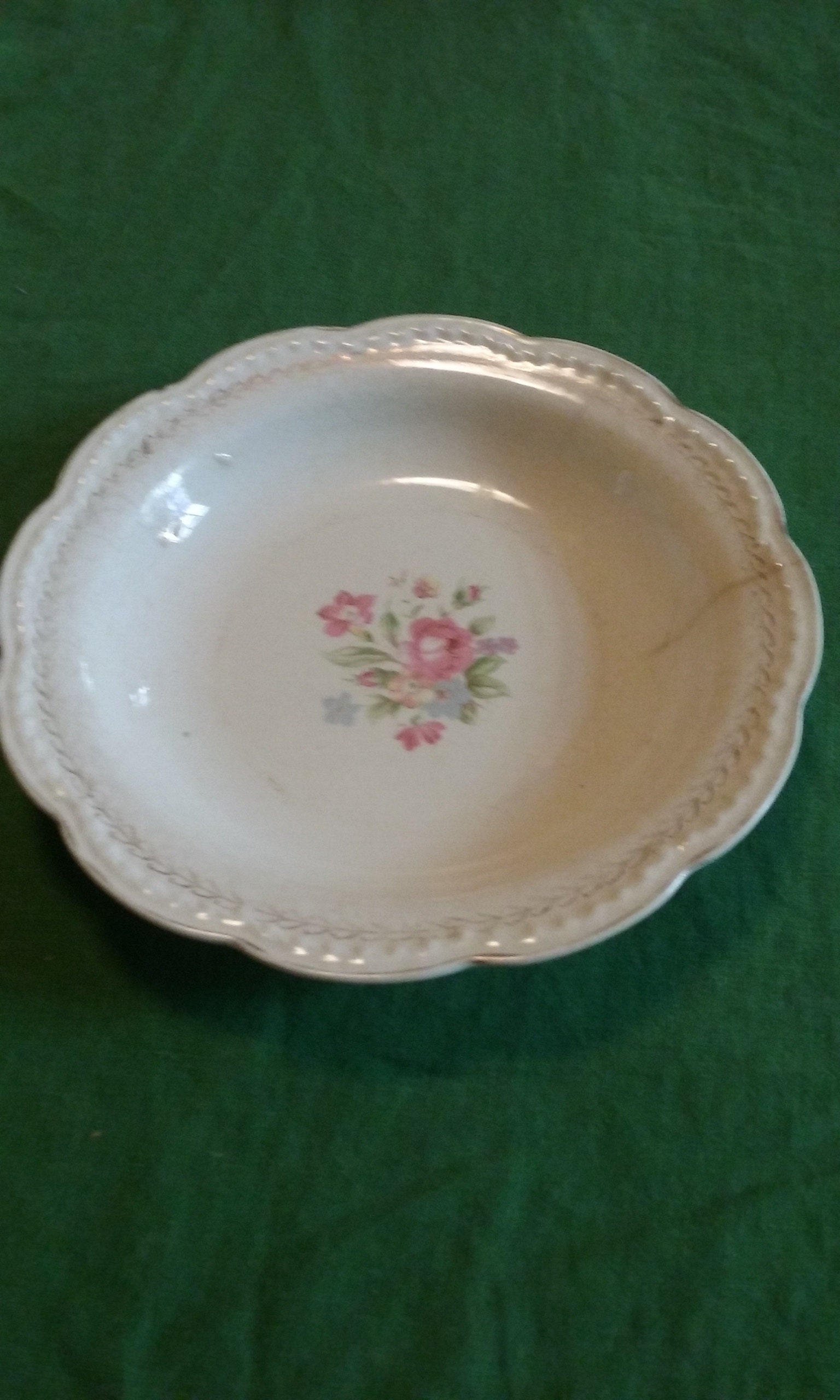 Vintage American Beauty By Stetson Bowl/22kt Gold/Made in