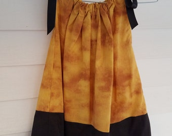 Gold with Black Pillowcase Dress