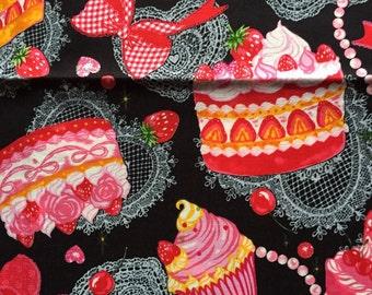 Cake party black colour fabric 110cm x 60cm
