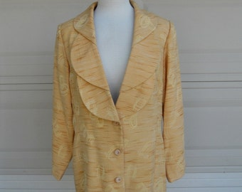 SALE Vintage Blazer . Butterscotch Space Dyed Boyfriend Jacket . Large