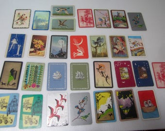 Vintage Swap Cards -  Old  Playing Cards -  Lot of 30 Single cards