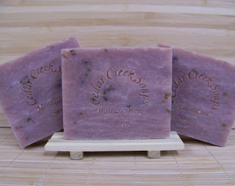 Tobacco Flower Soap Handmade Cold Processed Soap Vegan Soap