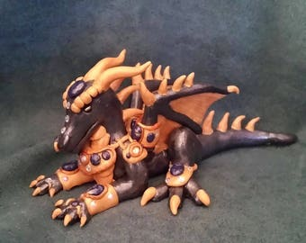 OOAK Black and Gold Egyptian Dragon