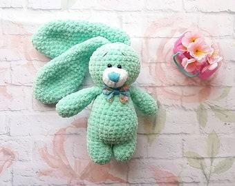 Bunny, Crochet bunny, plush bunny, knit bunny, bunny toy, soft bunny, stuffed bunny, baby shower bunny, bunny long ear, baby shower gift