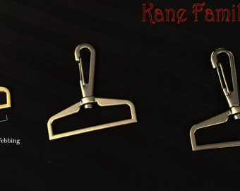 Pair (2) Large Lobster Clasp Swivel Hooks 2 inch 50 mm