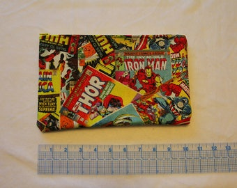 thor iron man hulk captain america comic book print large make up bag