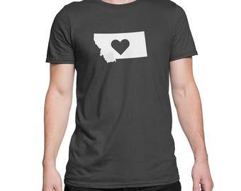 Montana State Heart Love Logo Shirt