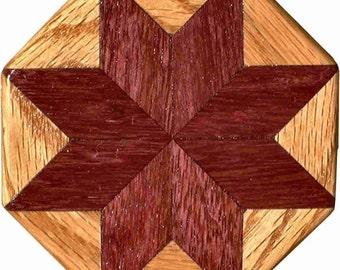 Purpleheart-Oak Pattern Weight