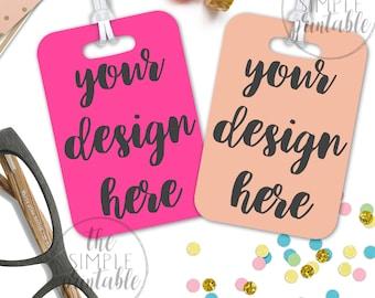 Luggage tag mockup, styled mockup, bag tag mockup, diaper bag tag mockup, personalized tag mockup, bag tag mockup, luggage mockup