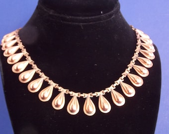 FREE SHIPPING - Vintage Tear Drop Copper Necklace
